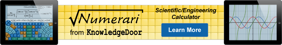 Numerari scientific calculator from KnowledgeDoor